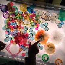 Ice Paintings on Light Table